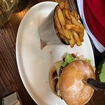 """Really poor photo. Sorry about that. The bun was probably 5"""" high as it was so stuffed with burg"""
