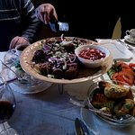 Everything, except tea, wine) you can see on the picture is included in the shashlik+kebab dish