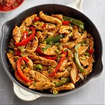 This is a photo of Mexican chicken fajita. But it looks exactly like my chicken shwarma at Tagin