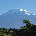 Mount Kilimanjaro views from hotel at moshi