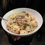 Shrimp Pasta Carbonara