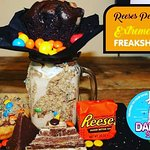 Freakshake at daddy donuts Norwich Reese's donuts