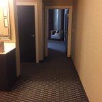 Room 551, view down the hallway toward the bedroom from entry door