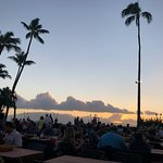 The Luau is at the ocean's edge
