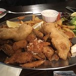 Seafood platter for two - after we've already dug in!