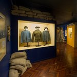 Authentic French, American and German WW1 uniforms.