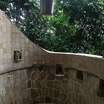 I used the outdoor shower every time just because I wanted to maximize the jungle experience