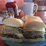 Latte, Loaded Veggie Sandwich