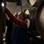 Learning the sparkling wine making process at Hambledon.