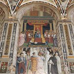 Pinturicchio's frescoes adorn the Piccolomini Library