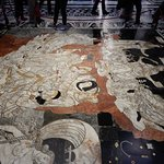 The inlaid marble mosaics are worth taking time for