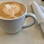 My very rich & satisfying hazelnut latte.