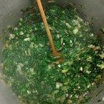 Green Shakshuka in the making