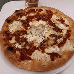 Pizza 4 quesos. Ligera y crujiente