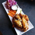 Chef D's famous wings.