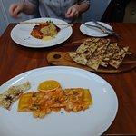 Ravioli scampi and lasagne
