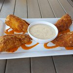 This is Buffalo Chicken Rolls. It is one of their new special menu items. The flavor was great.