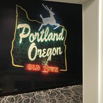 Cute Portland touches in the hallways too!