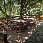 Areá externa do restaurante