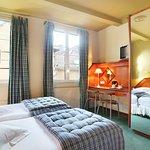 chambre cosy lits jumeaux sur l'arrière