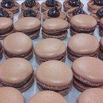 Macaron chocolat noir 61%