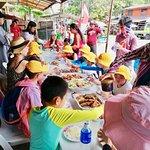 Panda English Students eating lunch at Moalboal, South Cebu