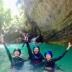 Giorgio, Stella & Denisa during their Canyoneering at Badian, South Cebu