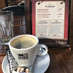 Coffee and menu - don't forget to leaf through all the pages.