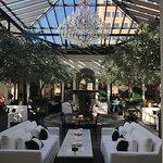 central atrium of restaurant