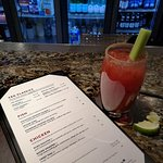 At the Keg Bar having my spicey Keg Ceasar with no napking or otherwise?