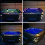 Our lovelly garden jacuzzi by night