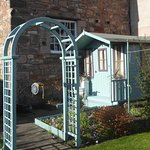 Summer house in our walled garden.