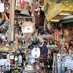 Stuff everywhere! A head on shot of the bar-