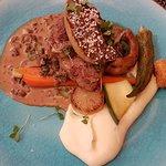 Filet de veau roti et foie gras poelé