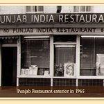 An Original way back Now its a BIG BLUE awning and the word...PUNJAB.