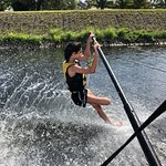 Barefoot waterskiing with Mike at Walking on water ; Lake Ida Del Ray Beach Florida