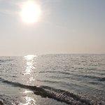 대천해수욕장의 스카이바이크와  아름다운 바다모습