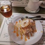 "Cake and Ukrainian soft drink ""Uzvar"""
