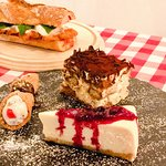 Just a few of our customers favorites...chicken cutlet parmgiana, cannoli, tiramisu and NY cheesecake