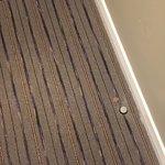 Debris everywhere in hallways and room! Everything stank!