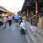 Market near hotel entrance