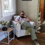 Lovely to see this customer relaxing in the comfy chair!