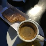 Perfect combo! Pastel Feijao and espresso!!