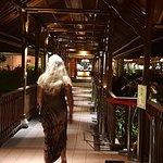 Blissful night walk in the resort