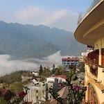 view from balcony at Chau Long Sapa Htoel