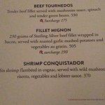 menu description