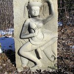 Thai garden stone sculpture