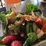 Strawberry & Hazelnut Salad, awarding winning salad with goats cheese & oranges! Try our Blush w