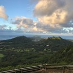 View north towards the North Shore frm the Nu'uanu Pali Lookout