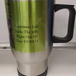 We have refillable mugs and other merchandise